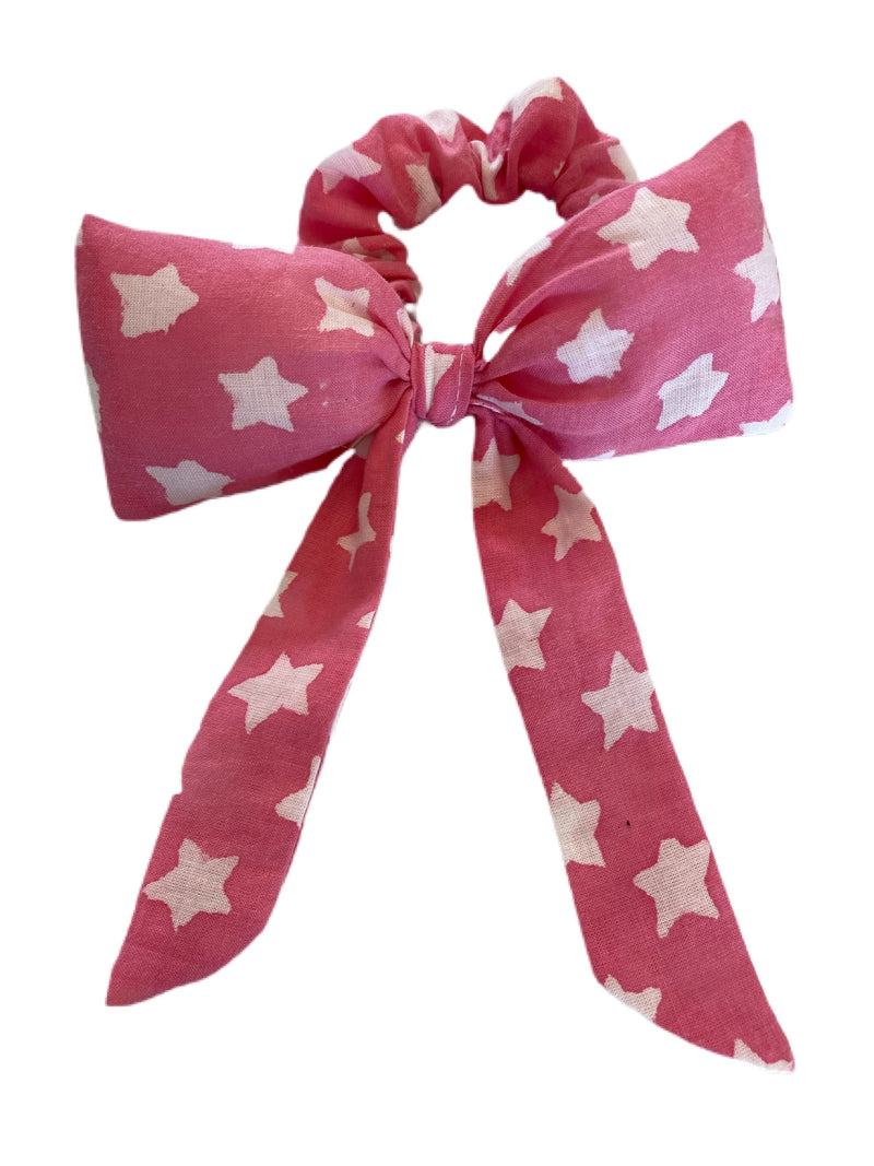 Face Cloth kids Mask and Hair Bow Set (Pink)