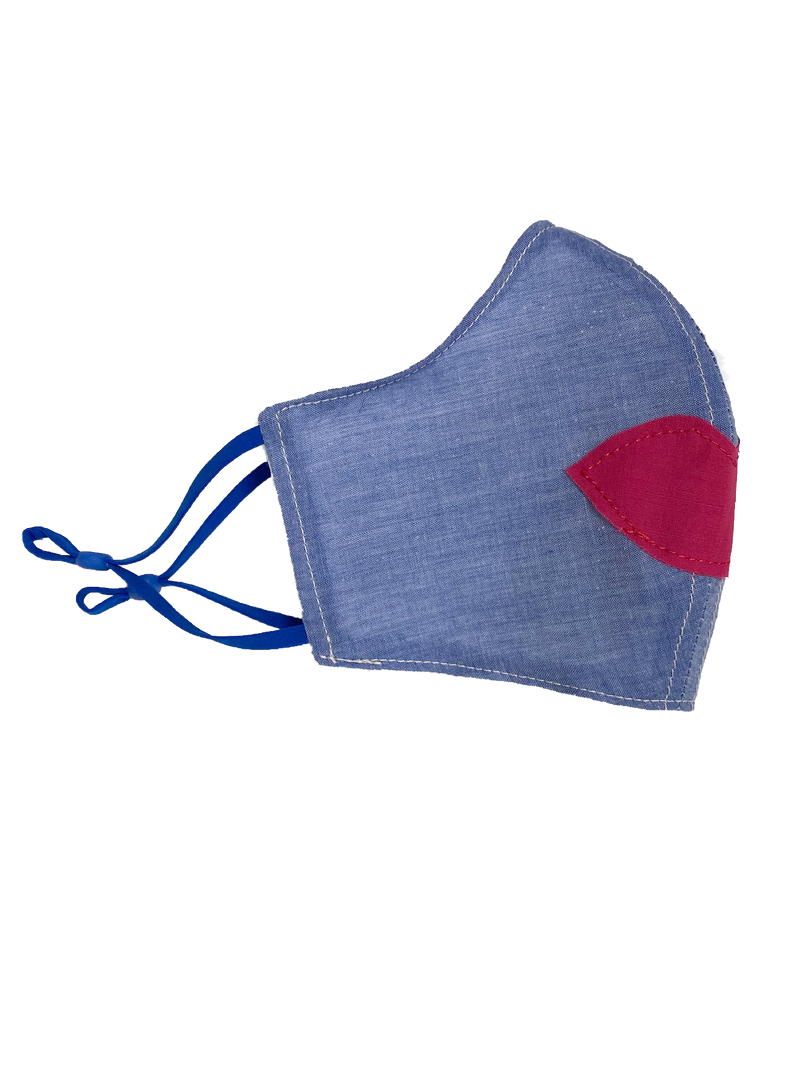 Face Cloth Casual Chambray Lips