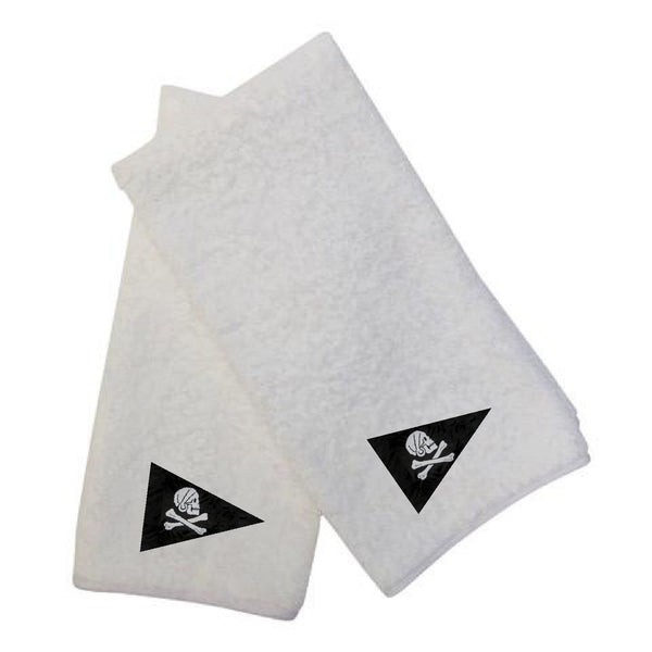 100% Cotton Terry Hand Towel with white poplin trim