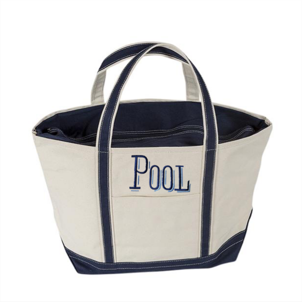 "Large Boat Tote with ""BOAT"""