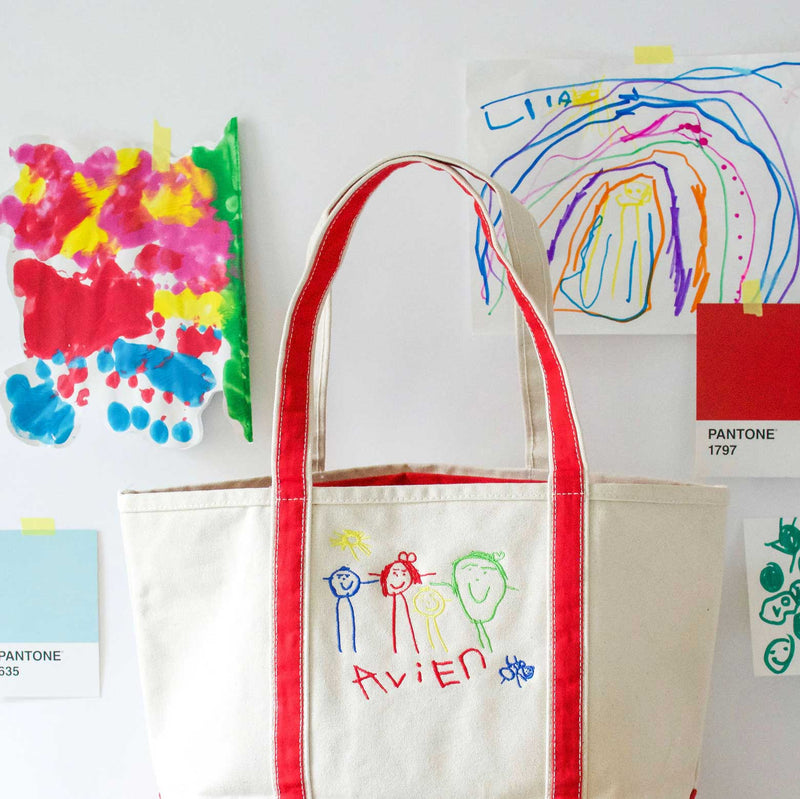 Medium Boat Tote with Custom Children's Artwork