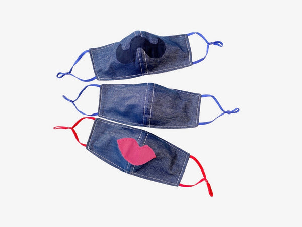 Face Cloth Casual Denim Chambray Mask Set