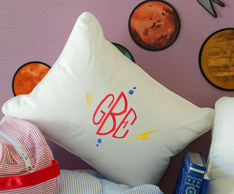 Embroidered Boudoir Pillow