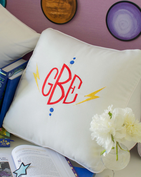 Lightning Bolt Reading Wedge Pillow