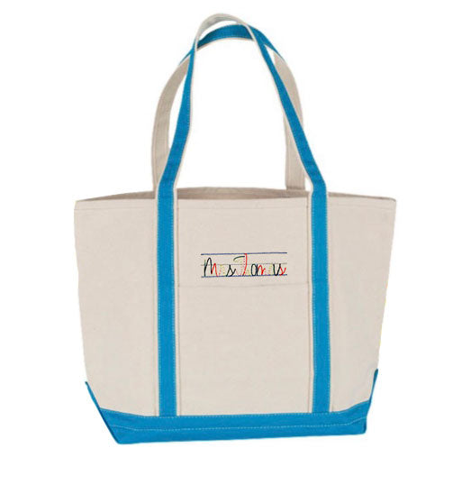 Medium Boat Tote - Choose Your Own Embroidery
