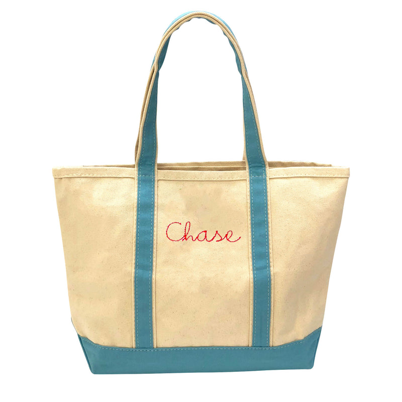 Large Boat Tote - Choose Your Own Embroidery