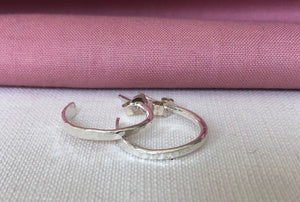 Small Hammered Hoop Earrings (Enso Hoops)