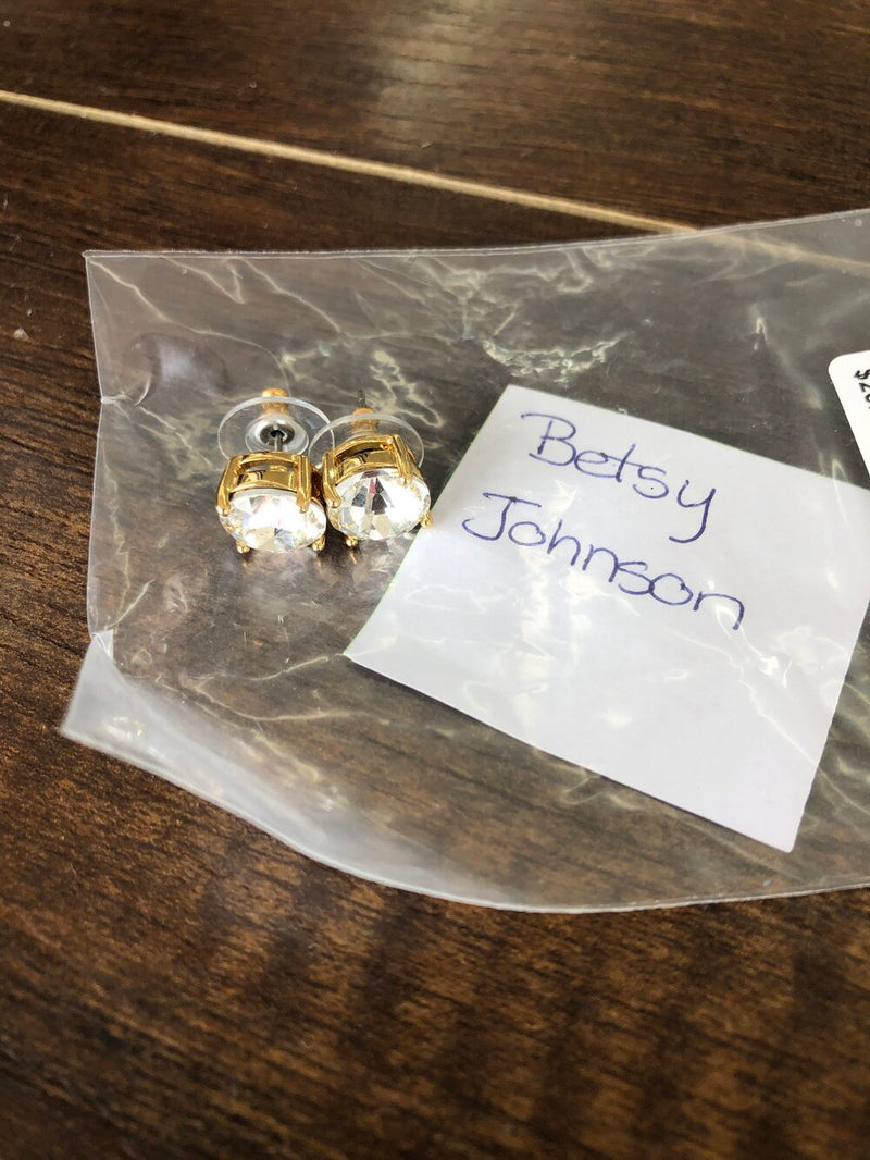 Betsy Johnson gold large studs Hers