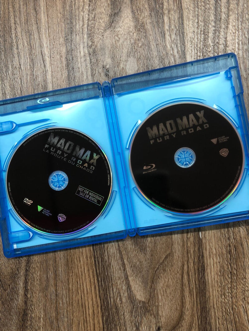 Mad Max fury road DVD/Blue Ray combo- used not tested adult