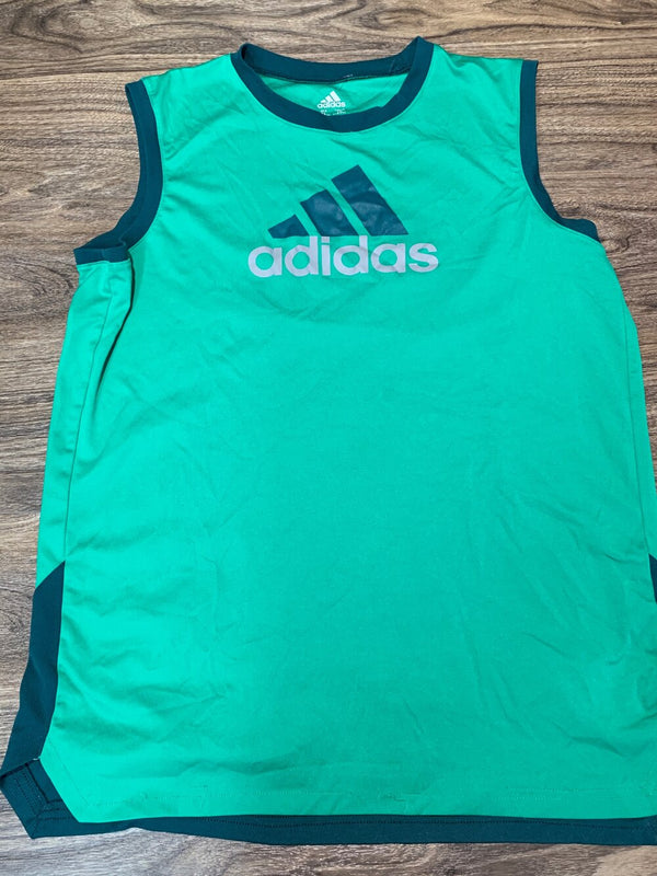 adidas green athletic tank top - Boys 18/20