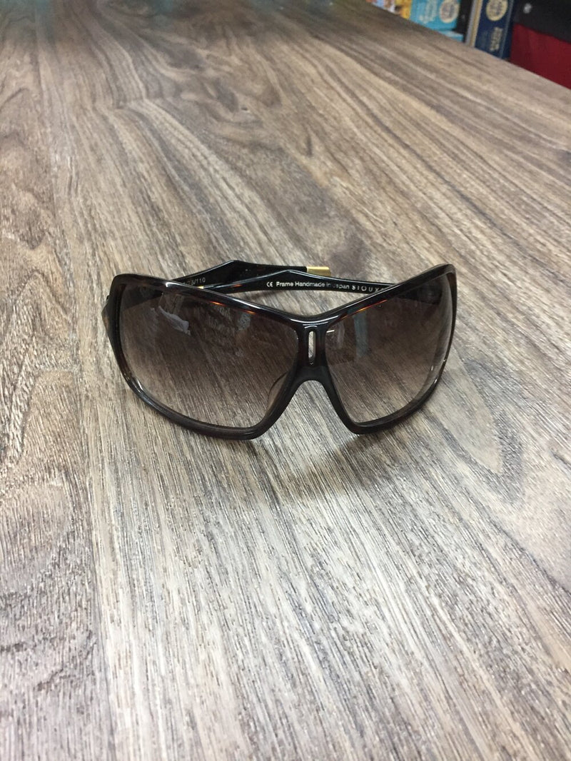 Spy black with gold detailing sport sunglasses