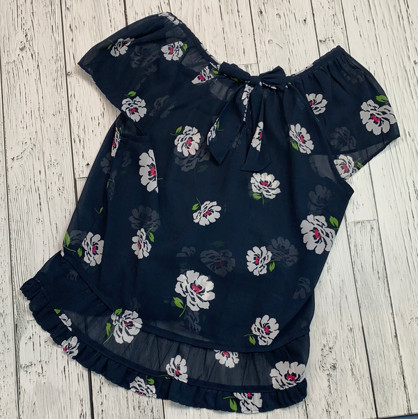 Abercrombie blue top with white flowers - Hers M