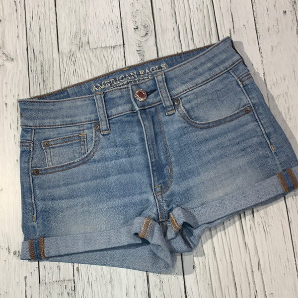 American Eagle hi-rise shortie denim shorts - Hers XXS/00