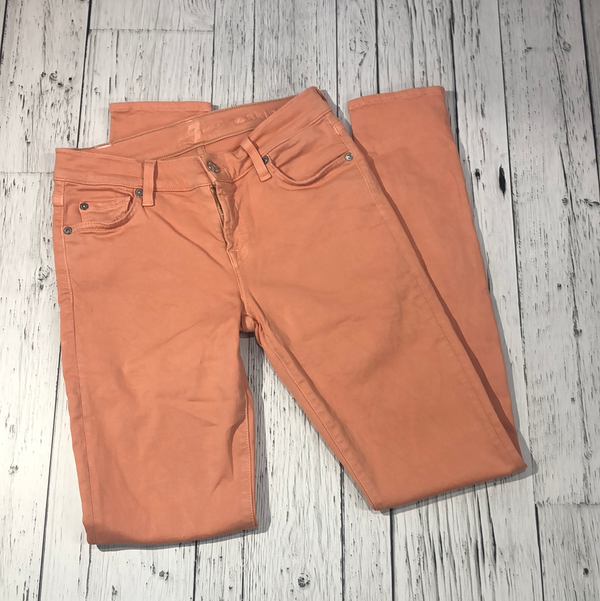 7 for all mankind orange skinny jeans - Hers XS/26