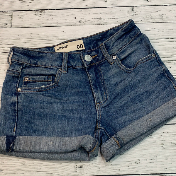Garage denim mid rise shorts - Hers XXS/00