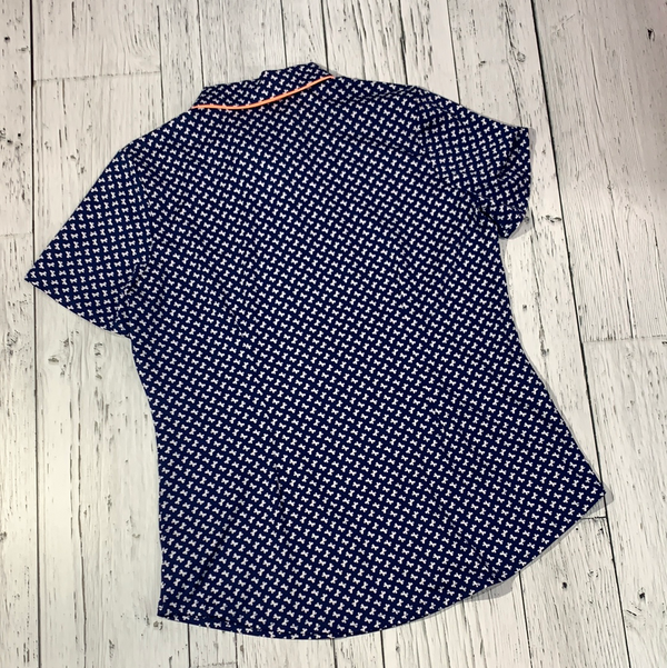 Jofit blue patterned golf shirt - Hers S