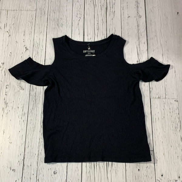 American Eagle black ribbed tshirt - Hers M