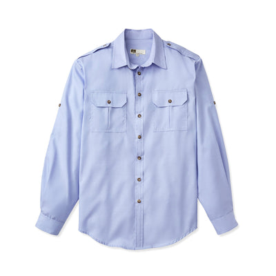 Tilley WF32 Urban Safari Bush Shirt in Blue