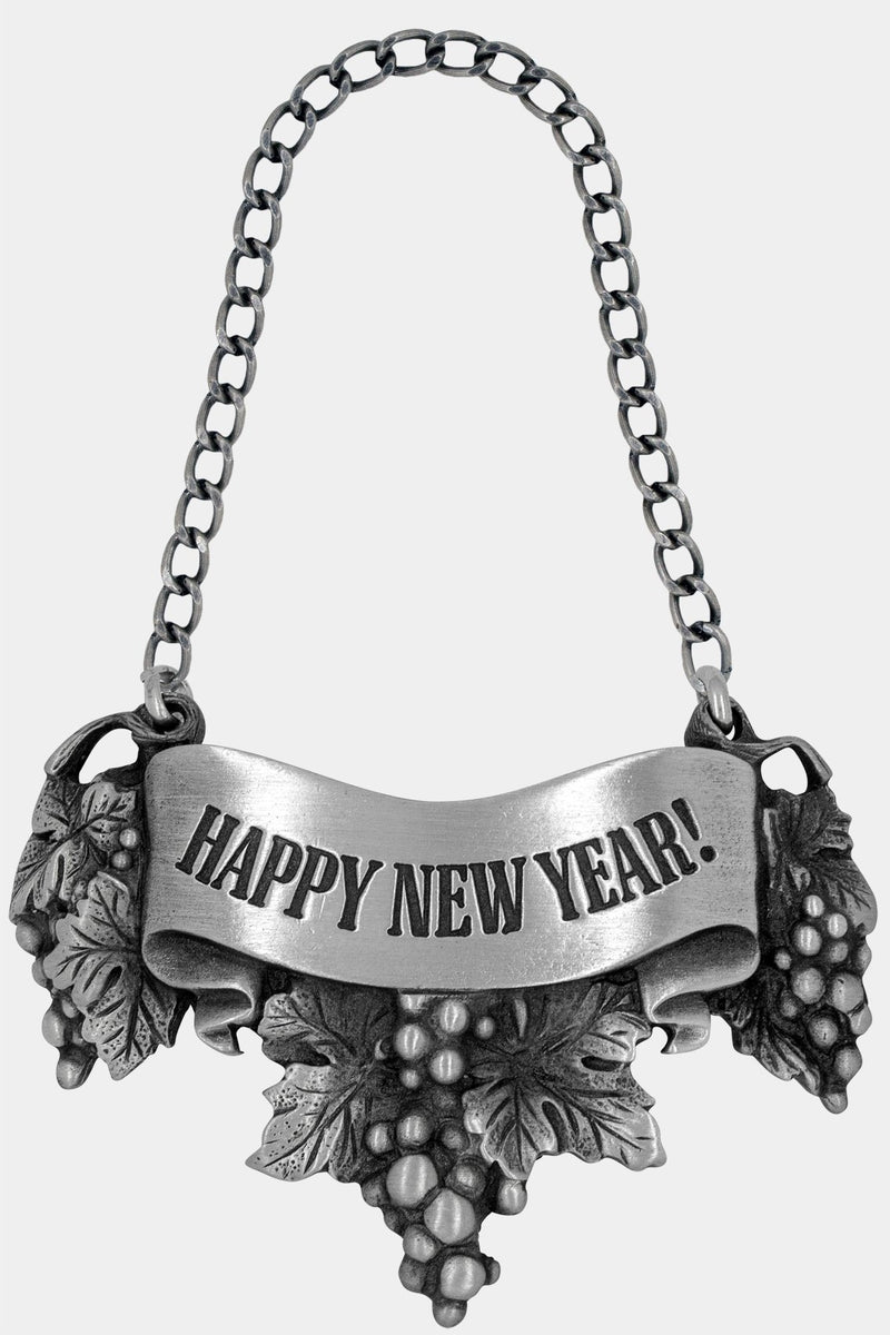 Happy New Year Liquor Label with chain