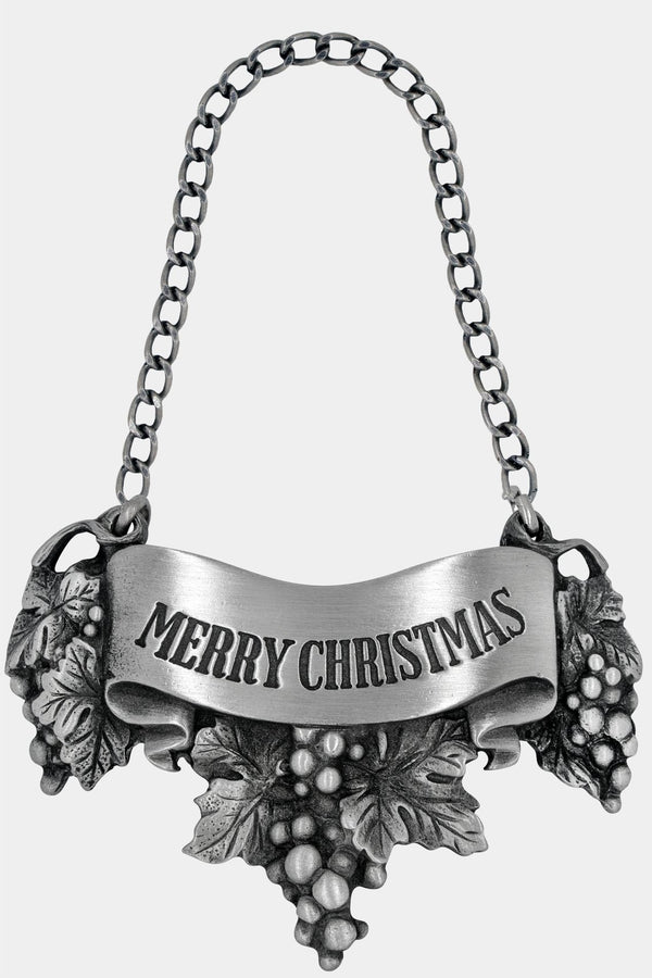 Merry Christmas Liquor Label with chain