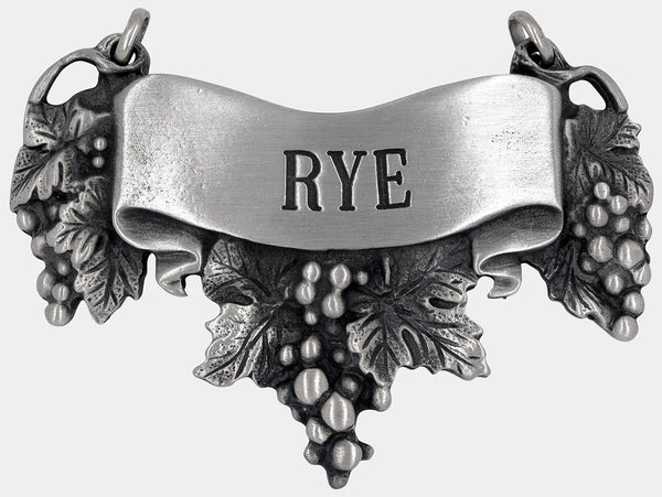 Rye Liquor Decanter Label