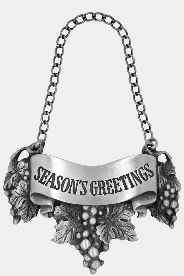 Season's Greetings Liquor Label with chain