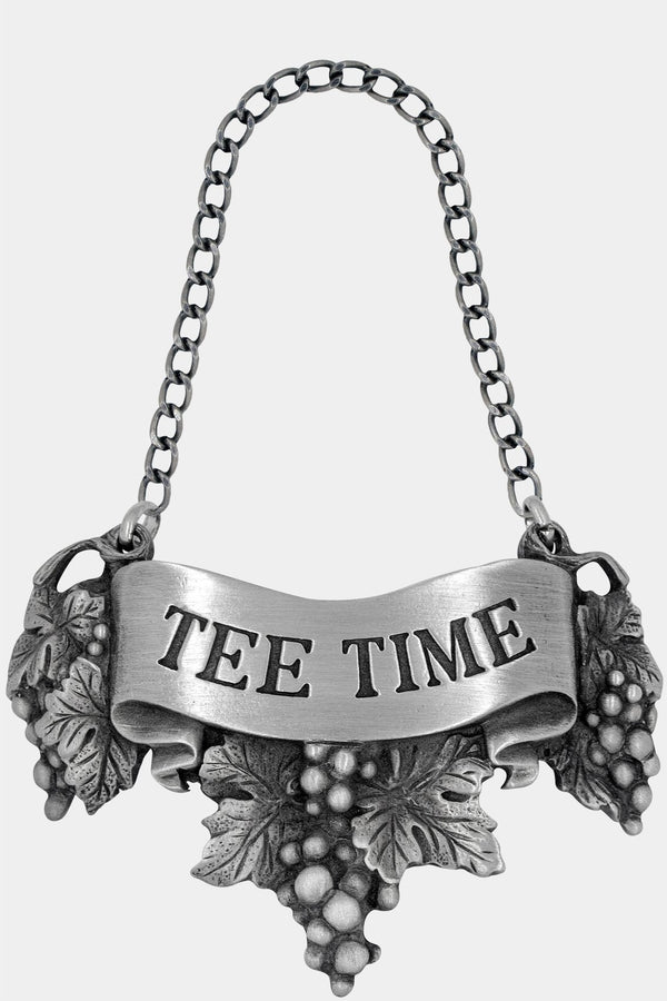 Tee Time Liquor Decanter Label with Chain