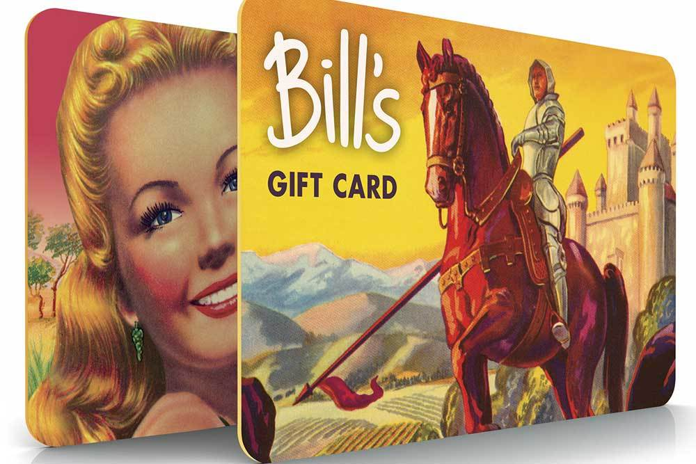 Bill's Christmas Gift Cards
