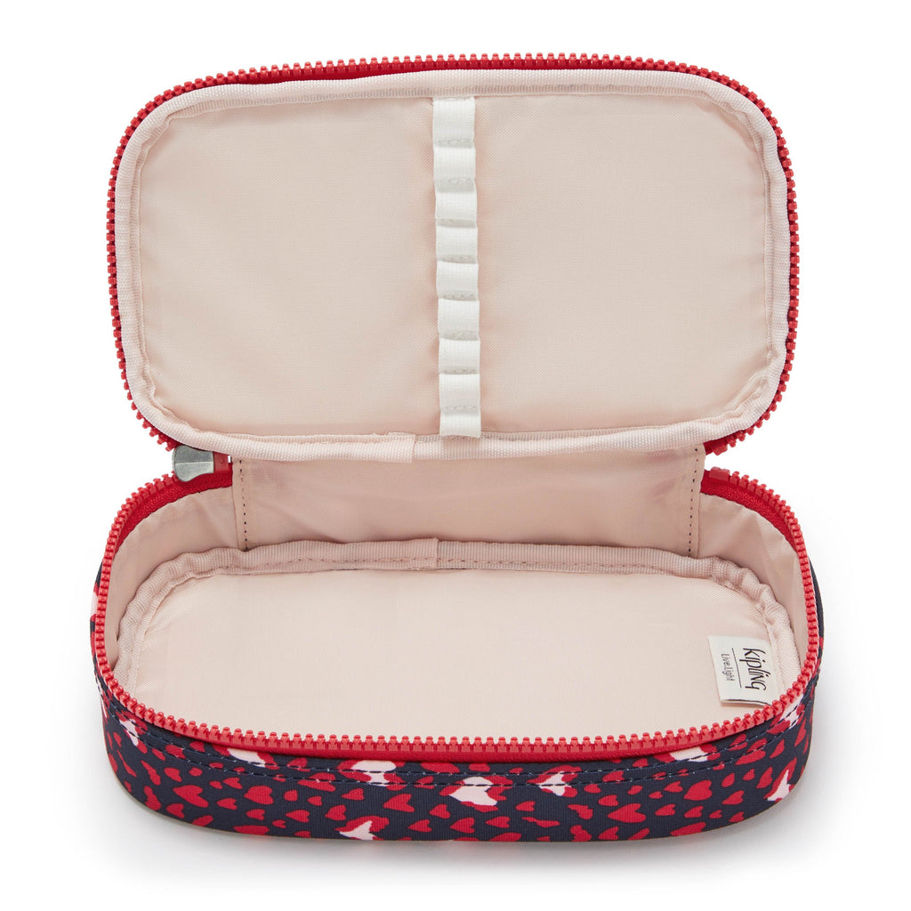 Kipling 50 Pens Pencil Case - Heart Festival