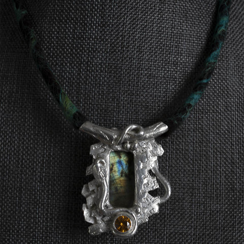 romancing the stone; pendant; handmade silver jewelry; west virginia; one of a kind; fine jewelry