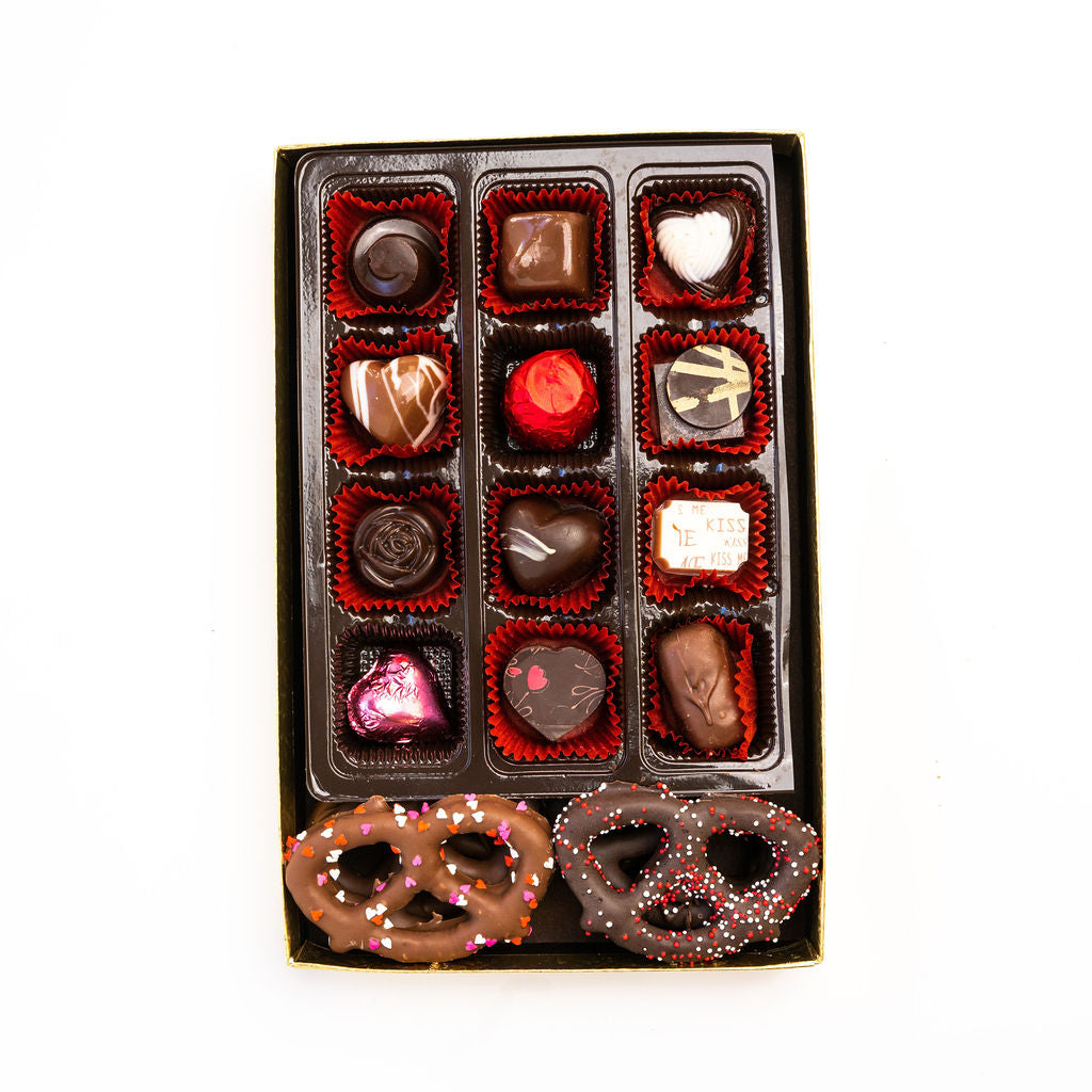 Assorted Box: Chocolates and Chocolate Covered Pretzels