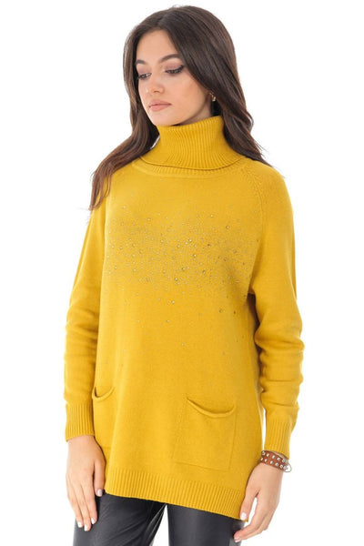 High Neck Yellow Jumper by Aimelia Apparel