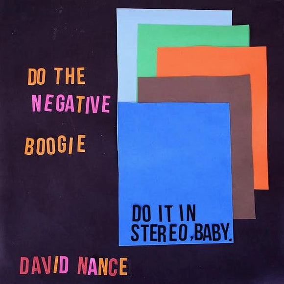 David Nance - Negative Boogie CD
