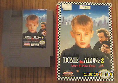 +++ HOME ALONE 2 NEW YORK Nintendo NES Game missing instructions