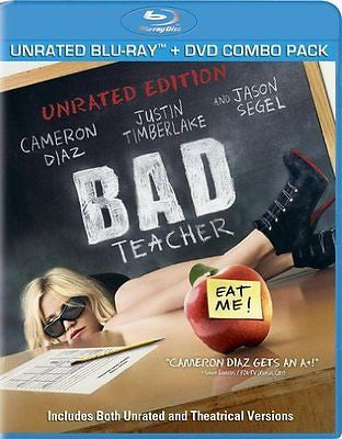 Bad Teacher (Blu-ray/DVD, 2011, 2-Disc Set) Unrated New