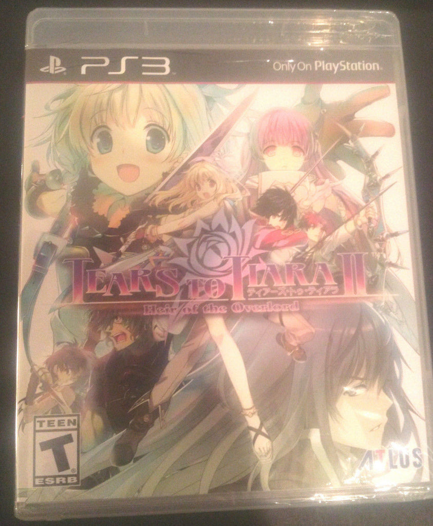 Tears To Tiara II Heir Of The Overlord Playstation 3 Brand New! Factory Sealed!