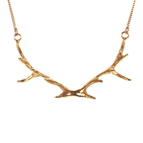 Antler (Large) Pendant with 24K Gold Vermeil Necklaces Mimi + Marge Jewellery