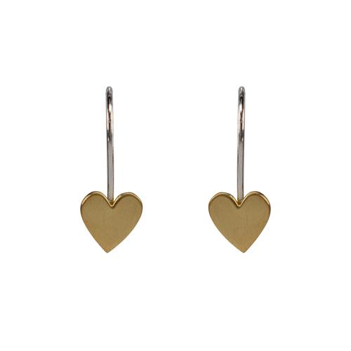 Heart Arc Earrings with 24K Gold Vermeil Earrings Mimi + Marge Jewellery