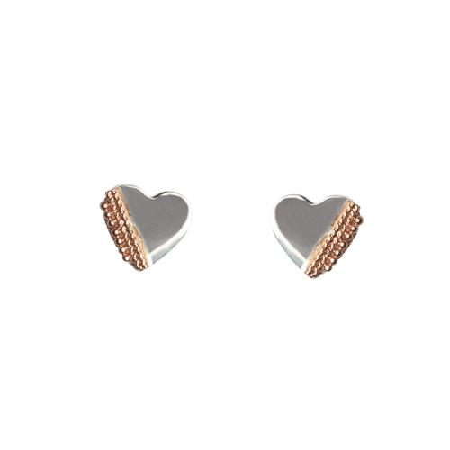 Heart Kebaikan with Rose Gold Earrings Earrings Mimi + Marge Jewellery