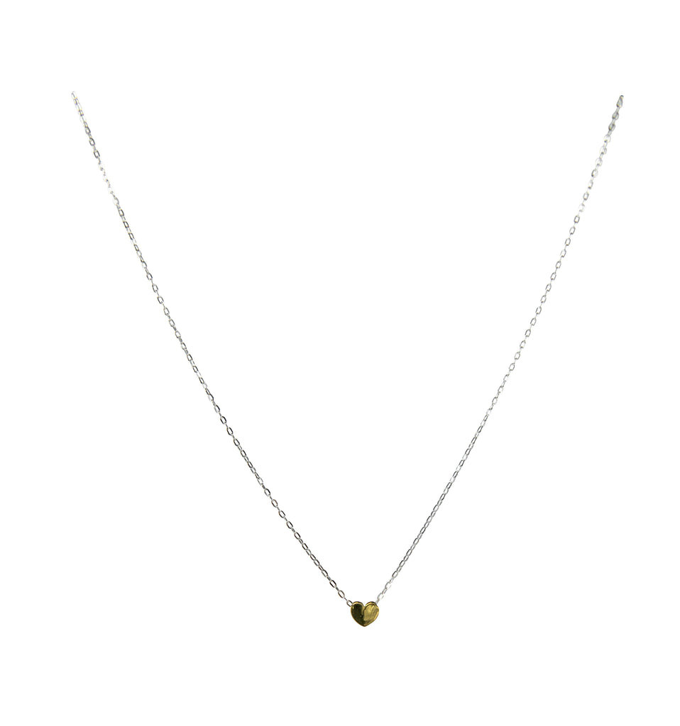 Heart Necklace with 24K Gold Vermeil Necklaces Mimi + Marge Jewellery