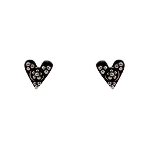 Kebaikan Heart Stud Earrings Earrings Mimi + Marge Jewellery