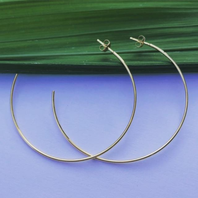 Parker Rose Gold Vermeil Hoops Earrings Mimi + Marge Jewellery