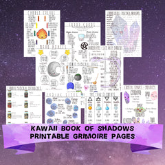 Kawaii Digital Printable Book of Shadows 10 Pages of Witchcraft Fundamentals