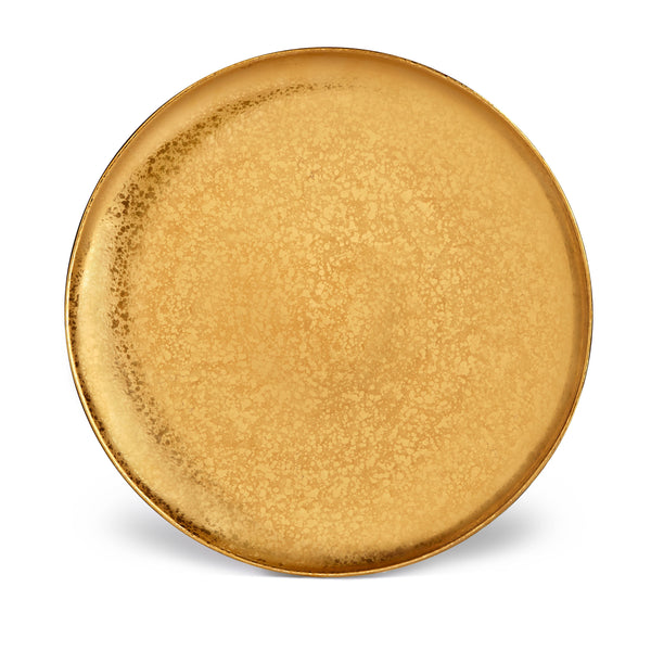 Gold Alchimie Charger by L'OBJET Incorporates 24K Gold in a Timeless Collection - Accentuated with a Luxurious Patina