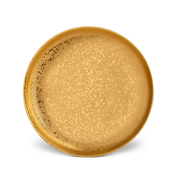 Gold Alchimie Dinner Plate by L'OBJET Incorporates 24K Gold in a Timeless Collection - Accentuated with a Luxurious Patina