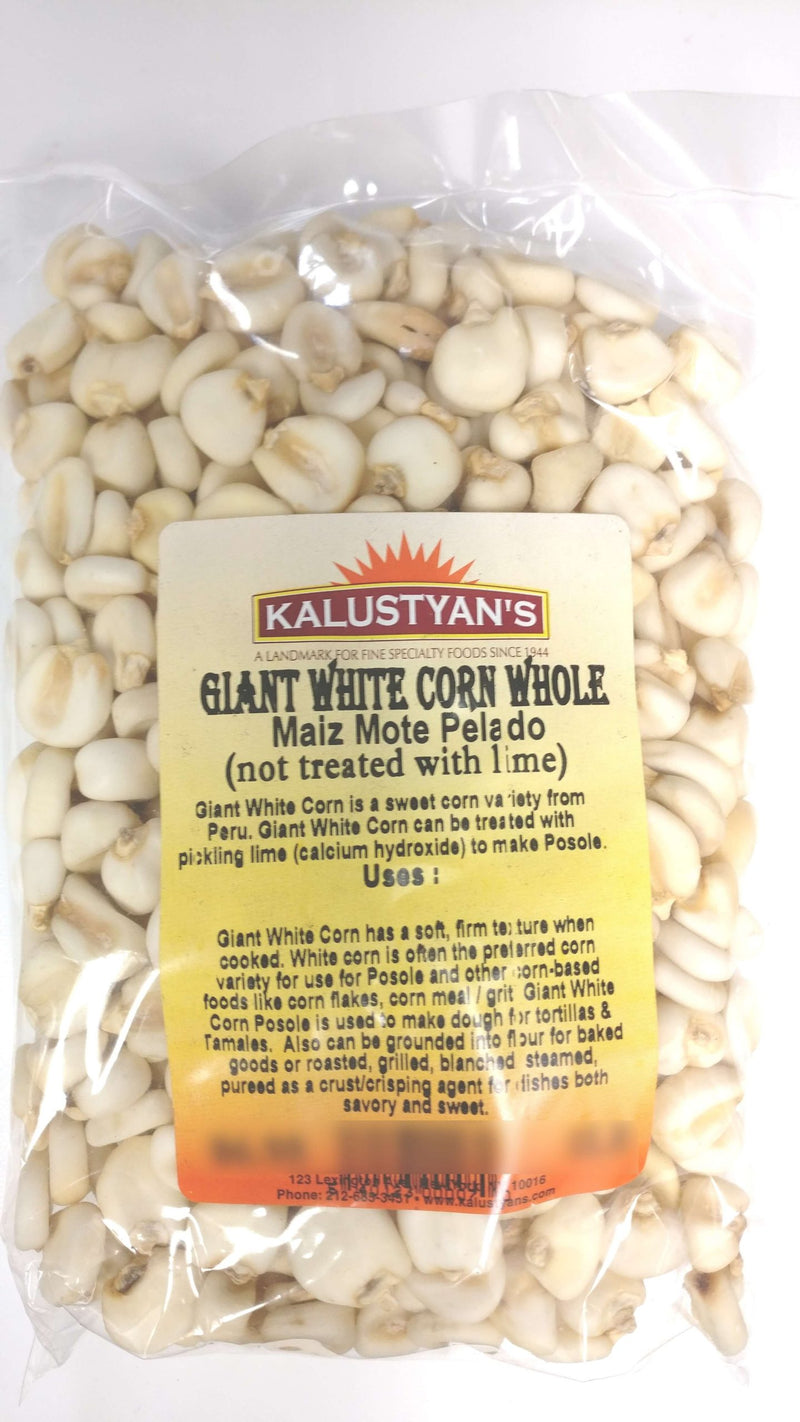 Giant White Corn Kernels (Not treated with lime)