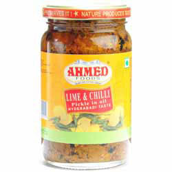 Lime & Chilli Pickle in Oil, Hyderabadi Taste