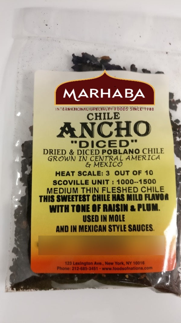 Ancho Chile, Diced