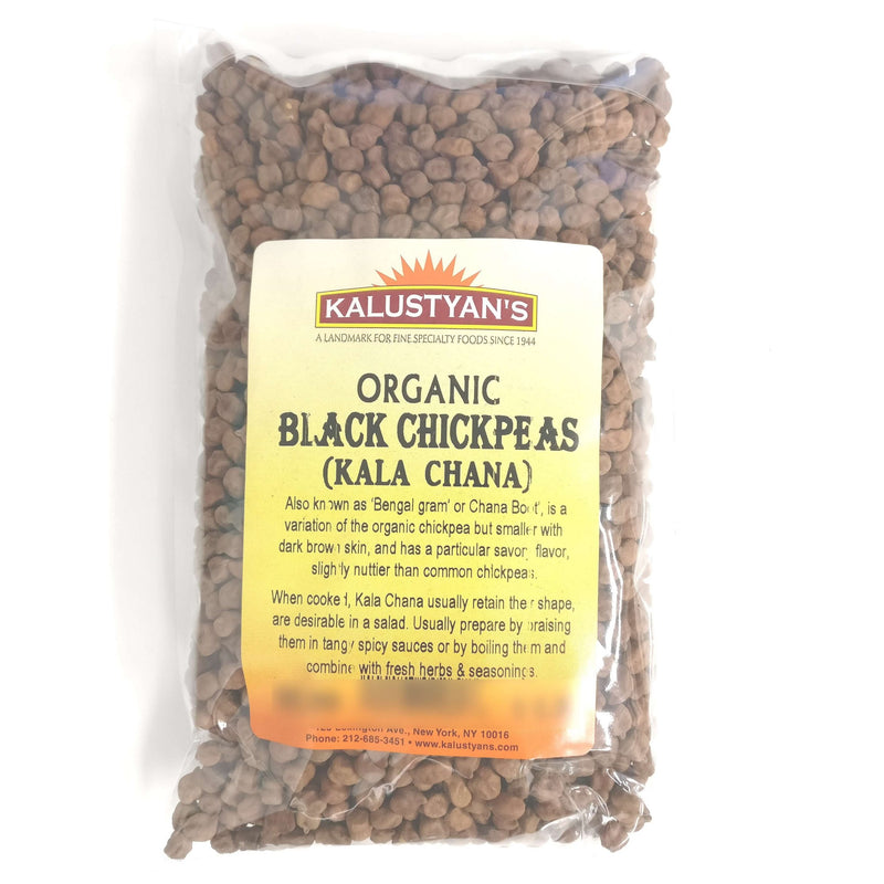 Black Chickpeas (Kala Chana), Organic, Dry