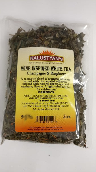 Champagne & Raspberry Wine Inspired White Tea